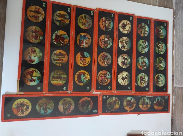 Cámara de fotos: Gran lote de linterna mágica GBN con 39 cristales. Circa 1890 - Foto 10 - 276169413
