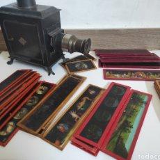 Cámara de fotos: GRAN LOTE DE LINTERNA MÁGICA GBN CON 39 CRISTALES. CIRCA 1890. Lote 276169413