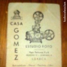 Cámara de fotos: CARPETA PEQUEÑA CLICHÉS CASA GOMEZ LUARCA. Lote 276398118