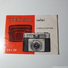 Cámara de fotos: INSTRUCCIONES DE WERLISA COLOR.. Lote 277682023