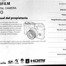 Cámara de fotos: MANUAL DE LA CÁMARA DIGITAL FUJIFILM X10 EN ESPAÑOL. Lote 278800838