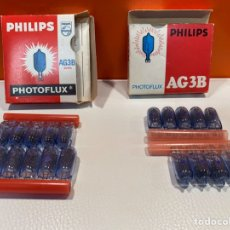 Cámara de fotos: LÁMPARAS PHOTOFLUX PARA FLASH AG3B PHILIPS 19 UNIDADES. Lote 280610828
