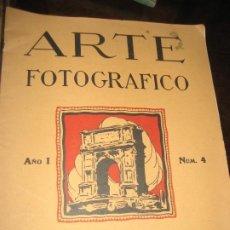 Cámara de fotos: REVISTA ARTE FOTOGRAFICO . Nº 4 ABRIL 1927 . FOTOGRAFIA. Lote 284339633