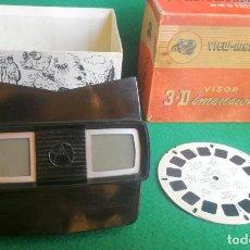 Cámara de fotos: VISOR ESTEREOSCÓPICO - 3 DIMENSIONAL VIEW MASTER + 1 DISCO - MODELO E - AÑOS 50 - BUENO - JYA20. Lote 284436203
