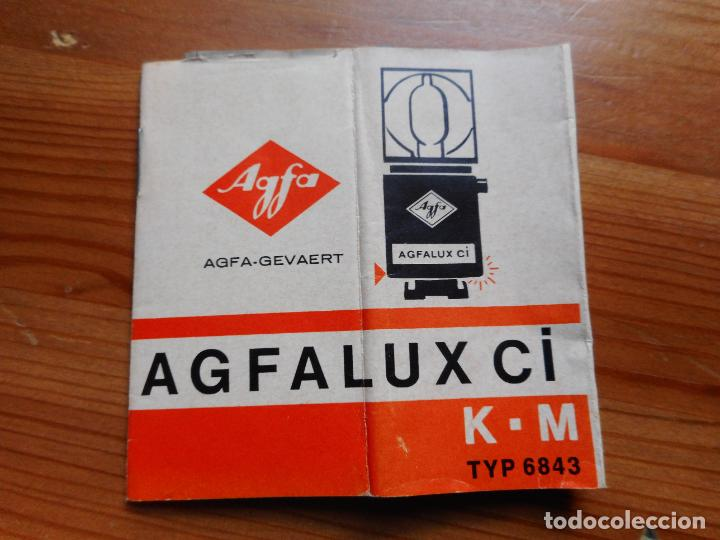 ANTIGUO PROSPECTO.AGFALUX CI.K.M TYP 6843.AGFA-GEVAERT.MUNCHEN.GERMANY. (Cámaras Fotográficas - Catálogos, Manuales y Publicidad)