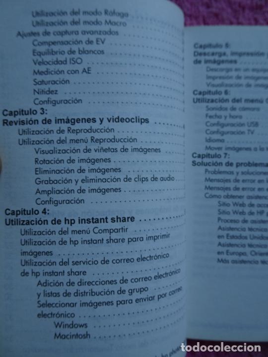 Cámara de fotos: manual del usuario cámara digital HP Photosmart serie 730 año 2003 - Foto 6 - 288418613