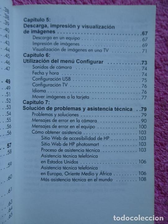 Cámara de fotos: manual del usuario cámara digital HP Photosmart serie 730 año 2003 - Foto 7 - 288418613