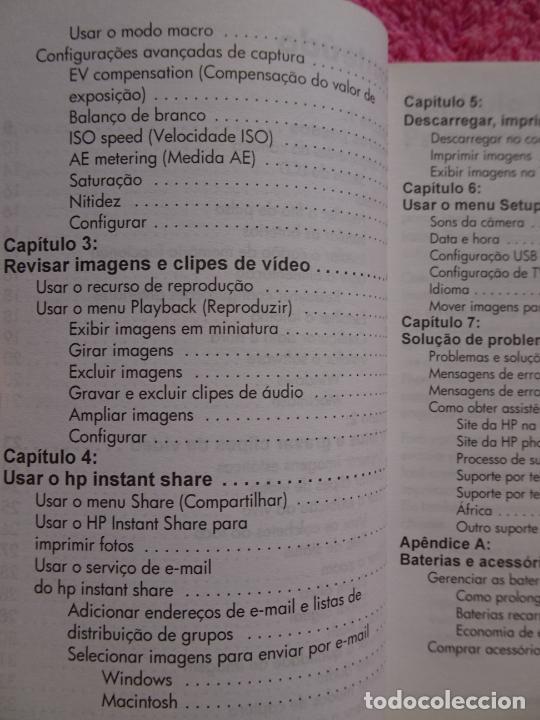 Cámara de fotos: manual do usuário cámera digital HP Photosmart serie 730 año 2003 - Foto 6 - 288418498
