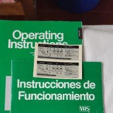 Cámara de fotos: MANUAL DE INSTRUCCIONES DE FUNCIONAMIENTO PARA VIDEO VHS PANASONIC NV-788. Lote 288943448