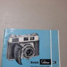 Cámara de fotos: MANUAL CÁMARA KODAK RETINA. Lote 289538353