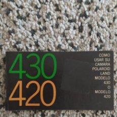 Cámara de fotos: MANUAL USO POLAROID LAND. Lote 289596553