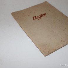 Cámara de fotos: REGTOR CATALOGO DE PAPELES FOTOGRAFICOS 1957. Lote 294092323