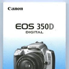 Cámara de fotos: CANON EOS 350D LIBRO DE INSTRUCCIONES. Lote 295705528