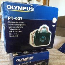 Cámara de fotos: OLYMPUS SP-560UZ + CARCASA SUBMARINA. Lote 295933663