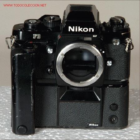 NIKON F3 HP + MOTOR MD-4 (Cámaras Fotográficas - Réflex (autofoco))