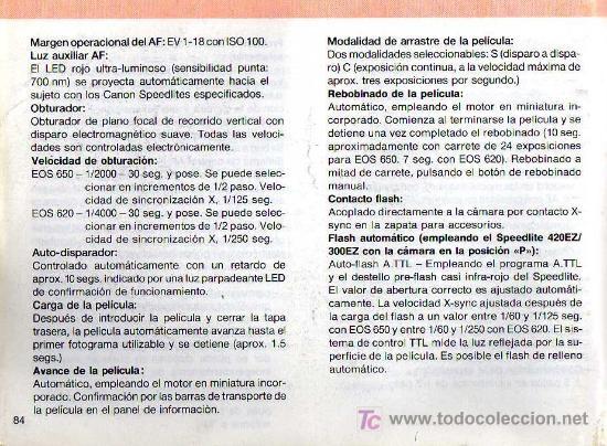 Cámara de fotos: CÁMARA REFLEX AUTOFOCO - CANON EOS 620 - Foto 4 - 26672517