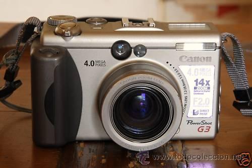 CANON G3 DIGITAL POWER SHOT FOTOS EN -RAW- O -JPEG- LENTE SUPERCLARA 2.0 (Cámaras Fotográficas - Réflex (autofoco))
