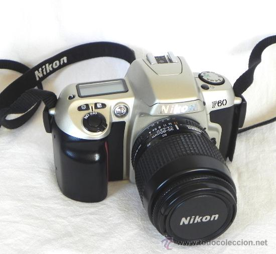 CÁMARA DE FOTOS RÉFLEX NIKON F60 + OBJETIVO NIKKOR 35 80 - FOTOGRÁFICA FOTOGRAFÍA F 60 - MÁQUINA (Cámaras Fotográficas - Réflex (autofoco))