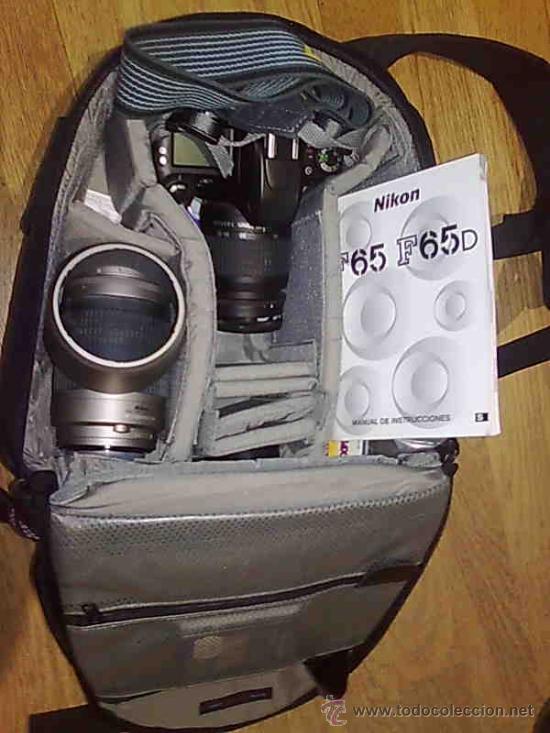CAMARA NIKON F65 + OBJ NIKKOR 28-80MM+ TELE NIKKOR 70-300MM + MOCHILA + FUNDA IND. TODO COMO NUEVO (Cámaras Fotográficas - Réflex (autofoco))