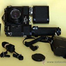 Cámara de fotos: CANON F1 CON MOTOR CANON UNIT EN CAJA ORIGINAL. Lote 25709261
