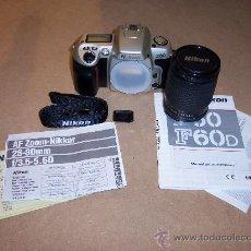 Cámara de fotos: NIKON F60 SILVER + ZOOM NIKKOR 28-80MM - NUEVA -. Lote 27424824