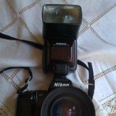 Cámara de fotos: NIKON 801 CON OBJETIVO 35-70 MM. 2,8 Y RESPALDO FECHADOR MULTIPLE CON INTERVALOMETRO Y FLASH. Lote 29109584