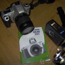 Cámara de fotos: CANON EOS- 300 - BOLSA TRANSPORTE, MANUAL, FILTROS, . Lote 29554066