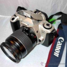 Cámara de fotos: EXCELENTE CAMARA REFLEX AUTOFOCUS..CANON EOS 300+CANON 28/80+CORREA,...FUNCIONA. Lote 46527557
