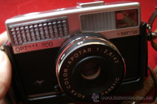 Cámara de fotos: AGFA OPTIMA 200 sensor...ALEMANIA 1969..EN SU FUNDA ORIGINAL Y FUNCIONANDO - Foto 10 - 31661724