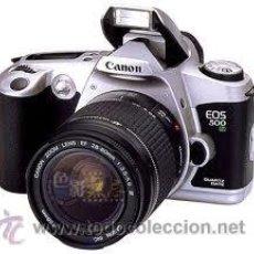 Cámara de fotos: CANON EOS 500 N ANALOGICA CON OBJETIVOS 28/80MM Y 80/200MM. Lote 32836109