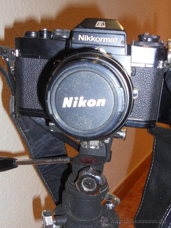 Cámara de fotos: ANTIGUA MAQUINA DE FOTOGRAFIAR REFLEX EL. NIKKORMAT PARA COLECIONISTAS (FUNCIONA ). - Foto 2 - 33762386