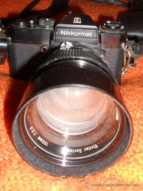 Cámara de fotos: ANTIGUA MAQUINA DE FOTOGRAFIAR REFLEX EL. NIKKORMAT PARA COLECIONISTAS (FUNCIONA ). - Foto 3 - 33762386