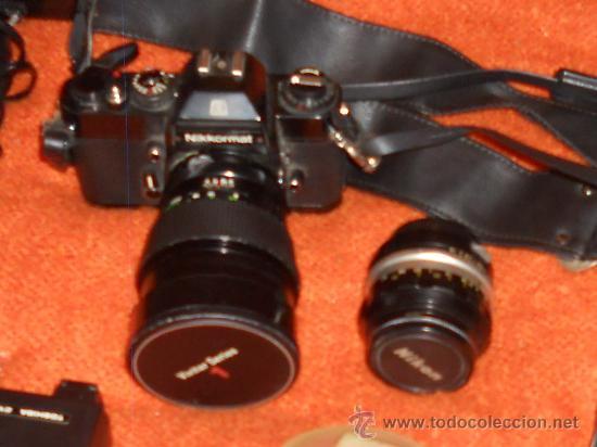 Cámara de fotos: ANTIGUA MAQUINA DE FOTOGRAFIAR REFLEX EL. NIKKORMAT PARA COLECIONISTAS (FUNCIONA ). - Foto 5 - 33762386