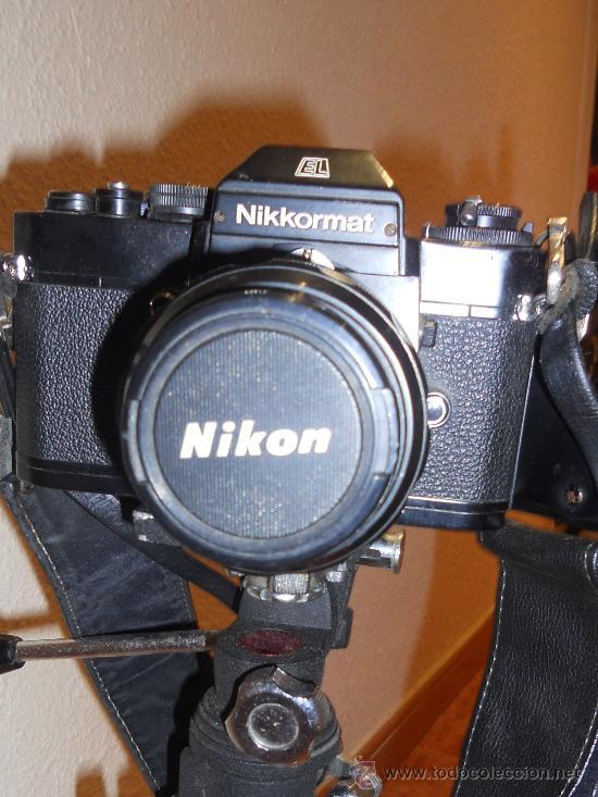 Cámara de fotos: ANTIGUA MAQUINA DE FOTOGRAFIAR REFLEX EL. NIKKORMAT PARA COLECIONISTAS (FUNCIONA ). - Foto 7 - 33762386