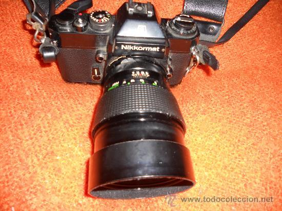 Cámara de fotos: ANTIGUA MAQUINA DE FOTOGRAFIAR REFLEX EL. NIKKORMAT PARA COLECIONISTAS (FUNCIONA ). - Foto 10 - 33762386