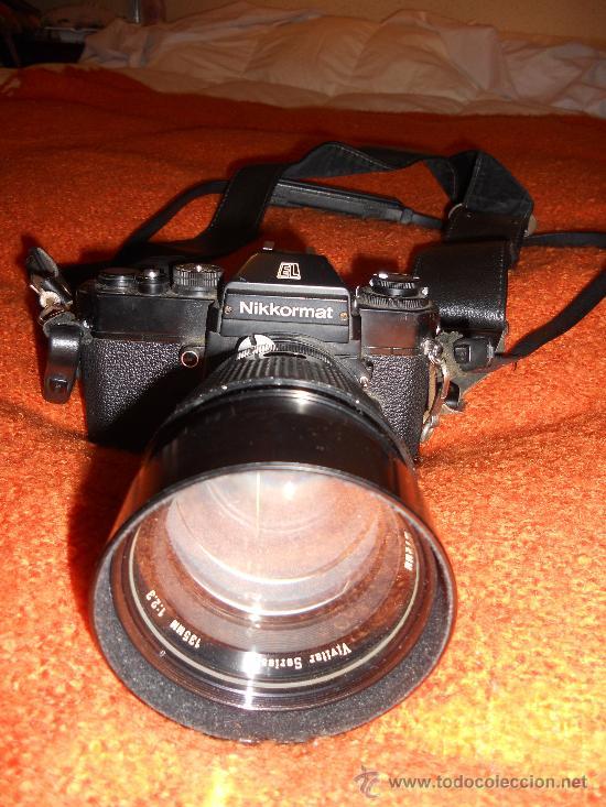 Cámara de fotos: ANTIGUA MAQUINA DE FOTOGRAFIAR REFLEX EL. NIKKORMAT PARA COLECIONISTAS (FUNCIONA ). - Foto 11 - 33762386
