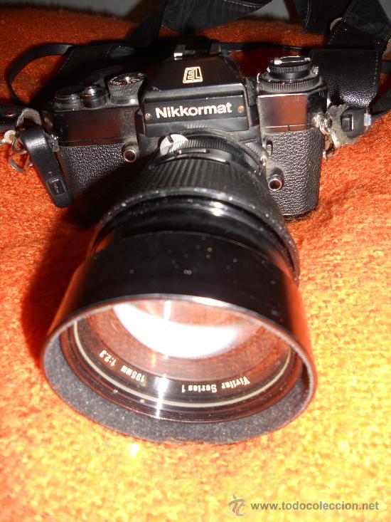 Cámara de fotos: ANTIGUA MAQUINA DE FOTOGRAFIAR REFLEX EL. NIKKORMAT PARA COLECIONISTAS (FUNCIONA ). - Foto 17 - 33762386