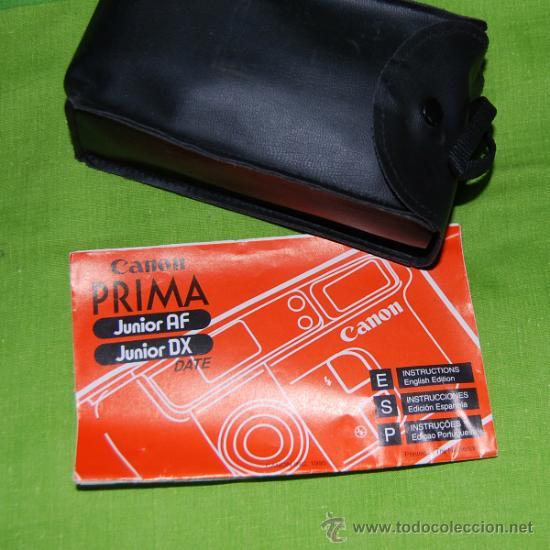 Cámara de fotos: CANON Prima Junior Dx con su funda, su caja y su documentacion original - año 1997 - Foto 8 - 36596486