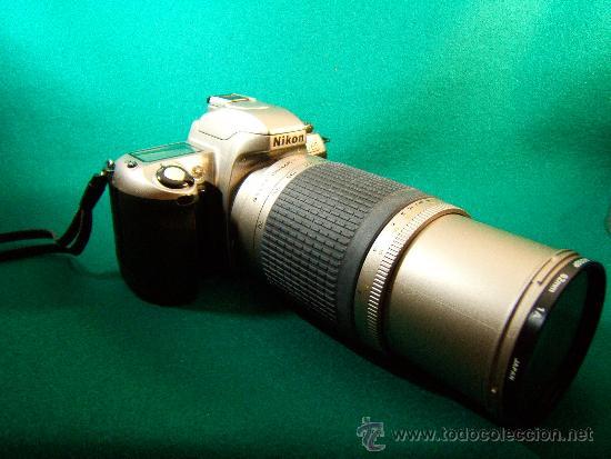 NIKON F65 - OBJETIVO NIKON AF NIKKOR 70-300 MM. 1:4-5,6 - AUTOFOCUS -MOTOR Y FLASH - PERFECTA - 2001 (Cámaras Fotográficas - Réflex (autofoco))