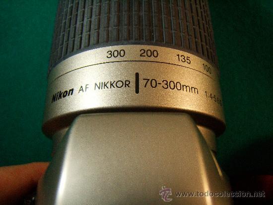 Cámara de fotos: NIKON F65 - OBJETIVO NIKON AF NIKKOR 70-300 MM. 1:4-5,6 - AUTOFOCUS -MOTOR Y FLASH - PERFECTA - 2001 - Foto 9 - 36890195