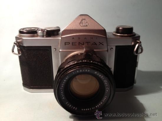 Cámara de fotos: CAMARA ASAHI PENTAX S1, OBJETIVO TAKUMAR 2:55MM, AÑOS 60, MECANICA - Foto 5 - 37621937