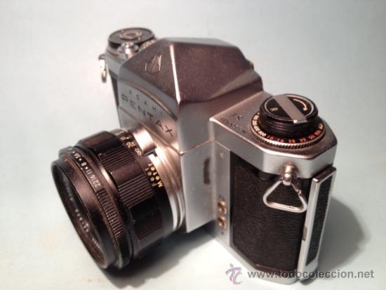 Cámara de fotos: CAMARA ASAHI PENTAX S1, OBJETIVO TAKUMAR 2:55MM, AÑOS 60, MECANICA - Foto 6 - 37621937