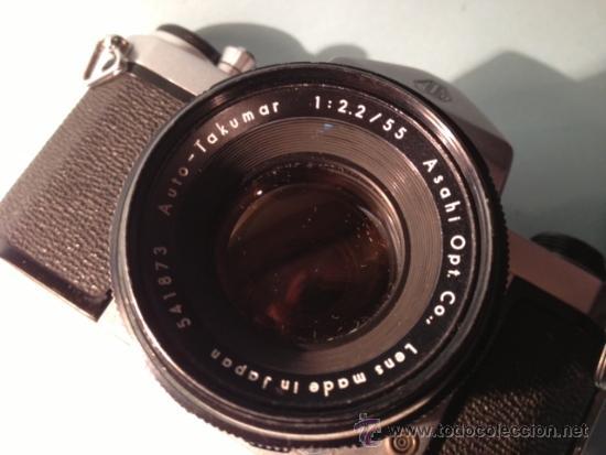 Cámara de fotos: CAMARA ASAHI PENTAX S1, OBJETIVO TAKUMAR 2:55MM, AÑOS 60, MECANICA - Foto 7 - 37621937