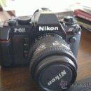 Cámara de fotos: NIKON F-501 + OBJETIVO AF NIKKOR 35-70 MM. Lote 38194098