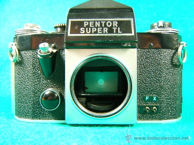 PENTOR SUPER TL-REFLEX SIN OBJETIVO-MADE IN G.D.R.-6 ASA A 1600-B-1 SEG. A 500 SEG.-CAMARA FOTOS... (Cámaras Fotográficas - Réflex (autofoco))