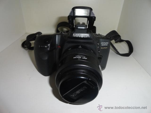 Cámara de fotos: camara reflex MINOLTA DYNAX 500SI SUPER OBJETIVO 35/70 BUEN ESTADO CON CARRETES e instrucciones - Foto 2 - 41602217