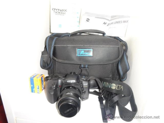 Cámara de fotos: camara reflex MINOLTA DYNAX 500SI SUPER OBJETIVO 35/70 BUEN ESTADO CON CARRETES e instrucciones - Foto 9 - 41602217