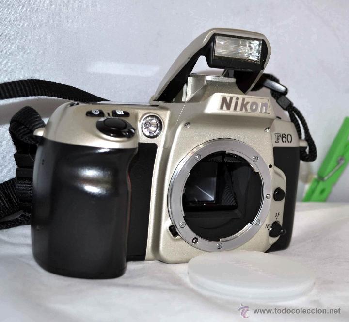 Cámara de fotos: EXCELENTE CUERPO DE CAMARA REFLEX, NIKON F-60 CON SU CORREA NIKON..PERFECTA..FUNCIONA - Foto 2 - 41806507