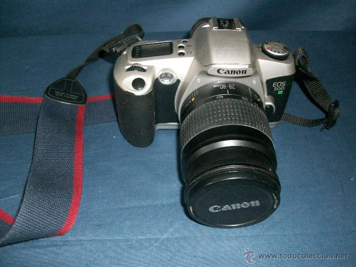 CAMARA CANON EOS 500 N - OBJETIVO 0.38M/1.3FF 28-80MM (Cámaras Fotográficas - Réflex (autofoco))
