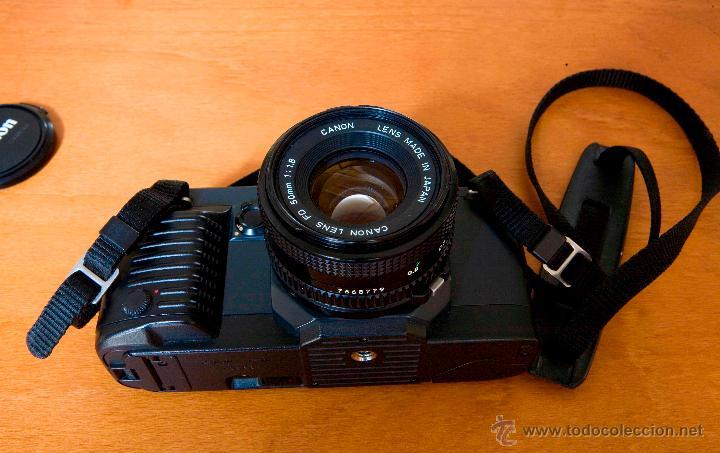 CANON T 70 MULTIPLE PROGRAM AE - DUAL METERING SYSTEM + CANON LENS - FD 50 MM 1:1.8 (Cámaras Fotográficas - Réflex (autofoco))